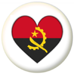 Angola Country Flag Heart 25mm Pin Button Badge